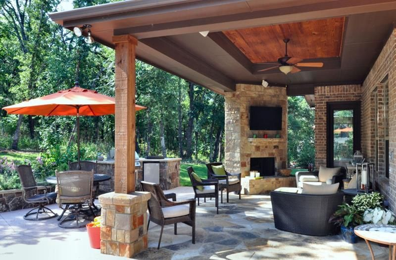 Enhance your patio's look with luxury furniture.
