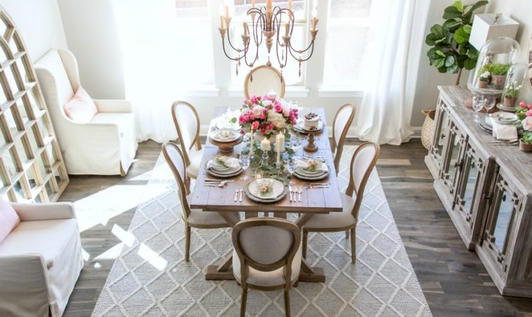 The idea of the French country dining room