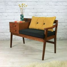 Trending mid-century class bar bench that will never be outdated!